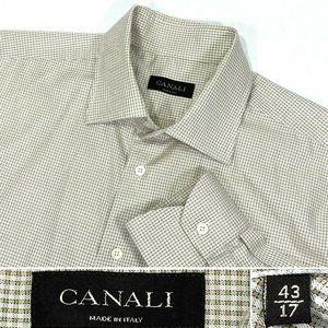 Canali Men's Size 17, 43 Dress Shirt